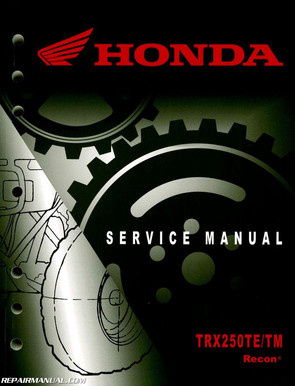 Terrific 2005 2019 Honda Trx250Te Tm Recon Atv Service Manual Wiring Cloud Licukshollocom