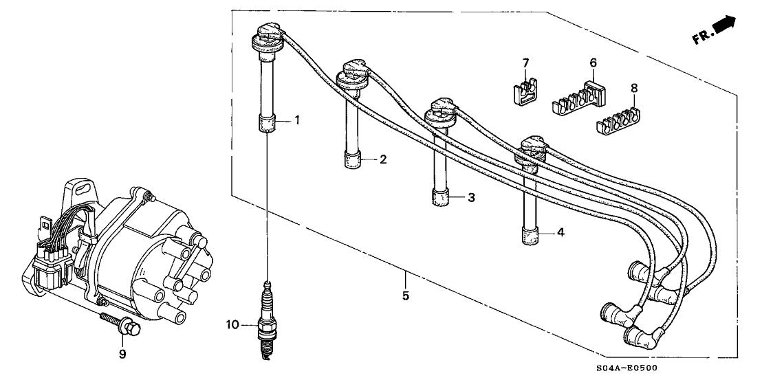 Ac 0899 2000 Honda Civic Spark Plugs Diagram Wiring Diagram