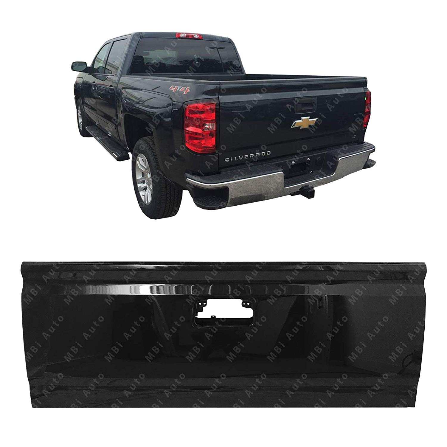 Magnificent Amazon Com Mbi Auto Painted 8555 Black Steel Tailgate Shell For Wiring Cloud Ymoonsalvmohammedshrineorg
