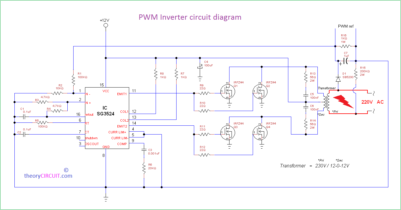 Prime Pwm Inverter Circuit Wiring Cloud Overrenstrafr09Org