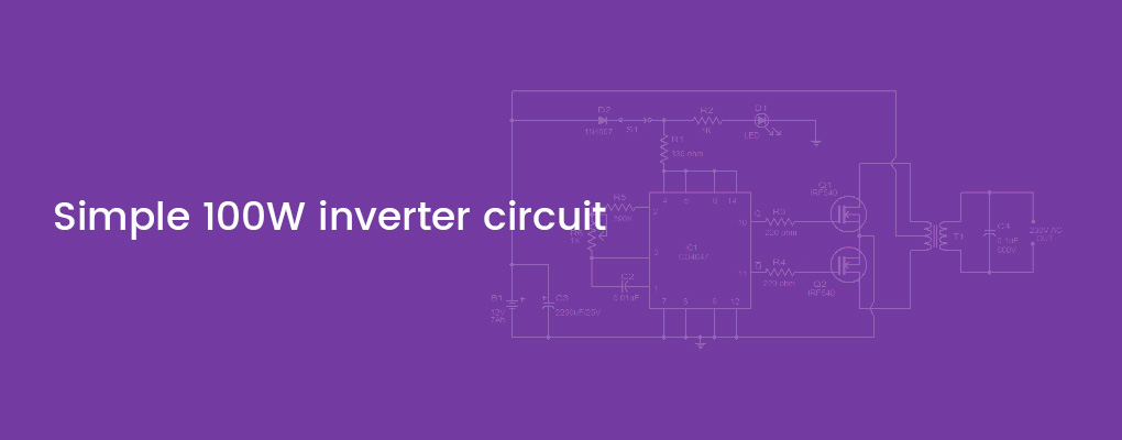 Superb Simple 100W Inverter Circuit Working And Circuit Diagram Updated Wiring Cloud Xortanetembamohammedshrineorg