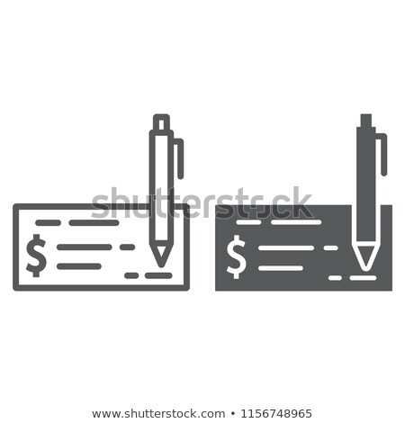 Surprising Bank Check Line Glyph Icon Finance Stock Vector Royalty Free Wiring Cloud Domeilariaidewilluminateatxorg
