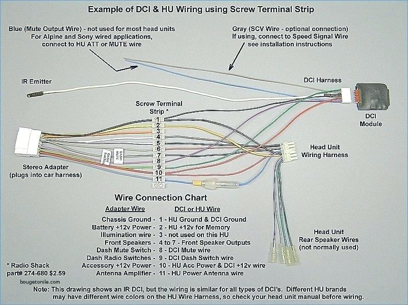 car radio wire harness wiring diagram with ir rockford