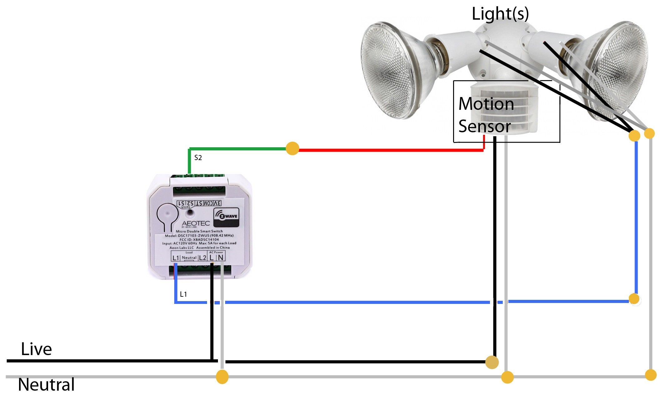 Arlec Motion Sensor Light Wiring Diagram
