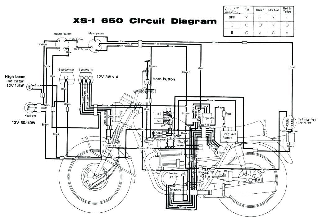 An 1593 1983 Yamaha Maxim Wiring Diagrams Wiring Diagram