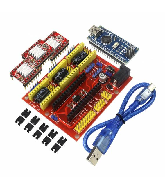 Brilliant Cnc Shield V4 A4988 Controller For Ramps1 4 Reprap 3D Printer Wiring Cloud Licukaidewilluminateatxorg