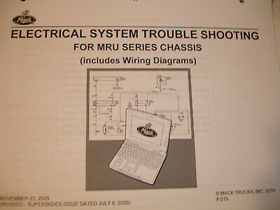 Other Car Manuals Mack Trucks MR Chassis WIRING DIAGRAM Electrical ...