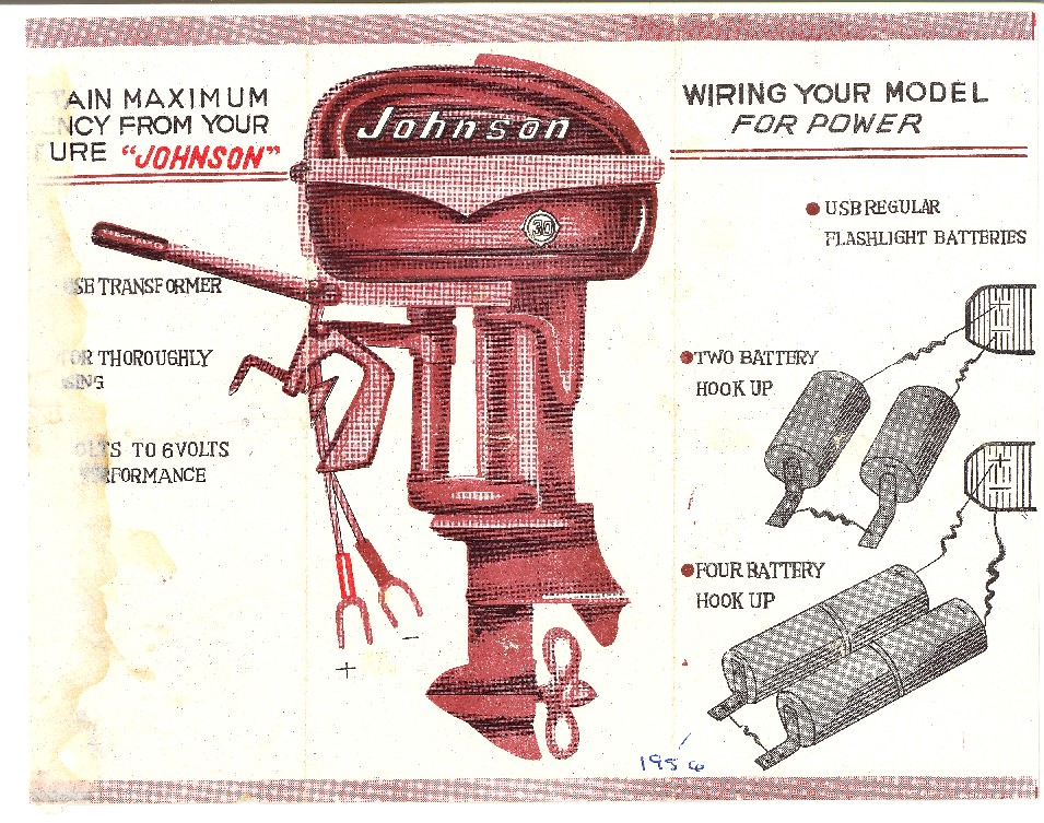 johnson outboard wiring diagram for 1956  1964 chevrolet