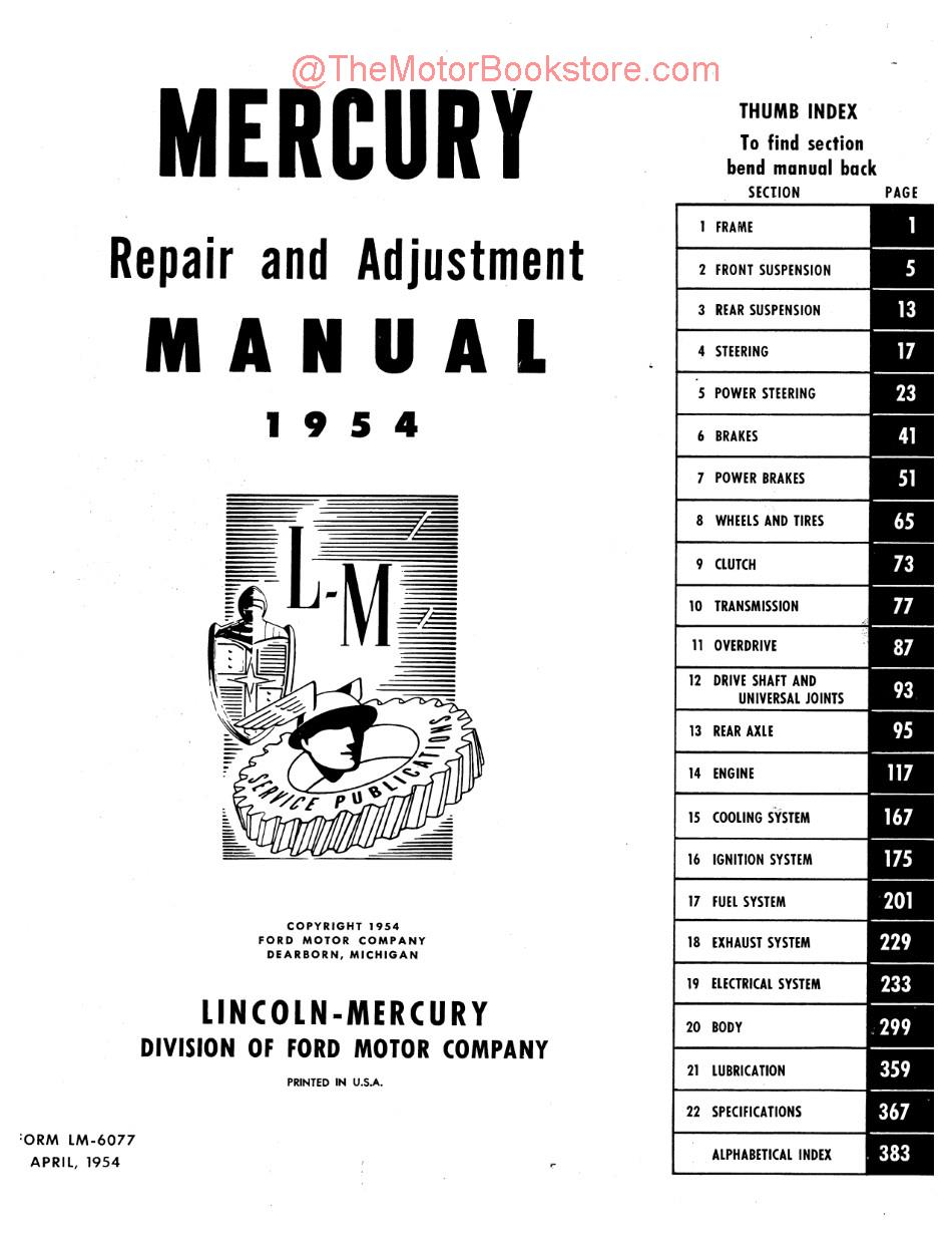 No 3741 1954 Mercury Overdrive Wiring Diagram Download Diagram