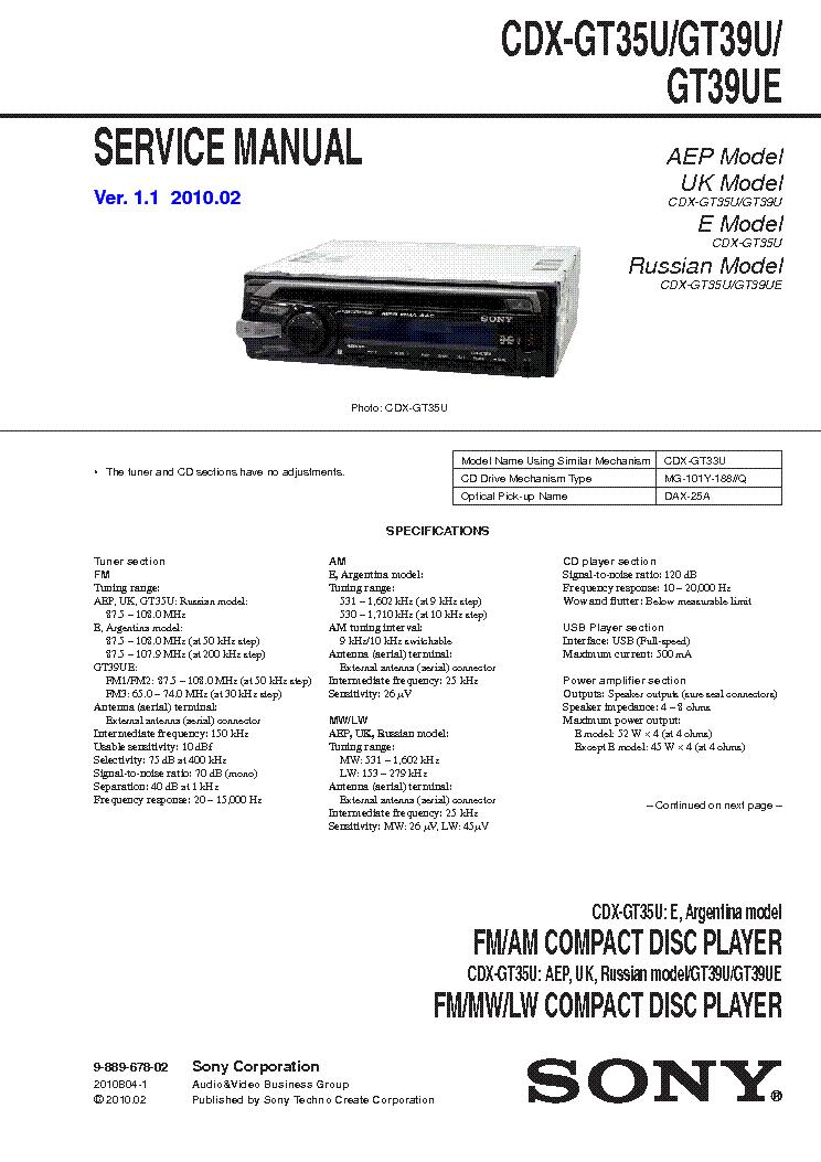 rv3475 sony cdx gt35u wiring diagram schematic wiring
