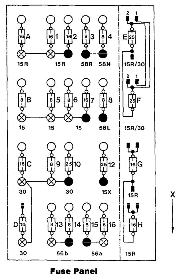 xv 0031  mercedes w124 fuse box diagram free diagram