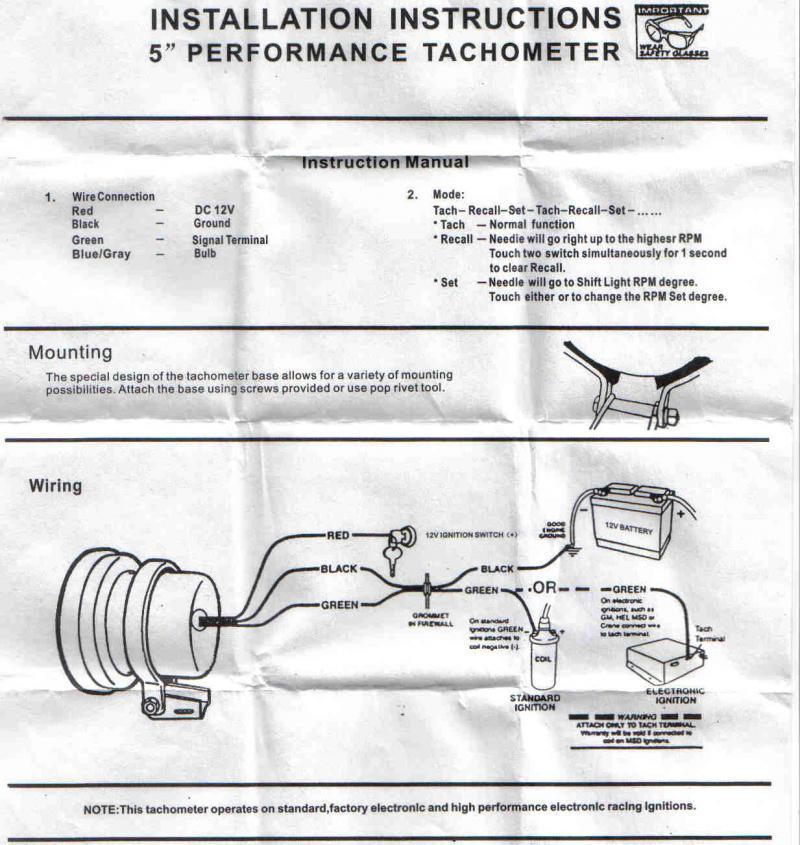 SV_0093] Type R Tachometer Wiring Diagram Wiring DiagramYnthe Arivo Bepta Mohammedshrine Librar Wiring 101