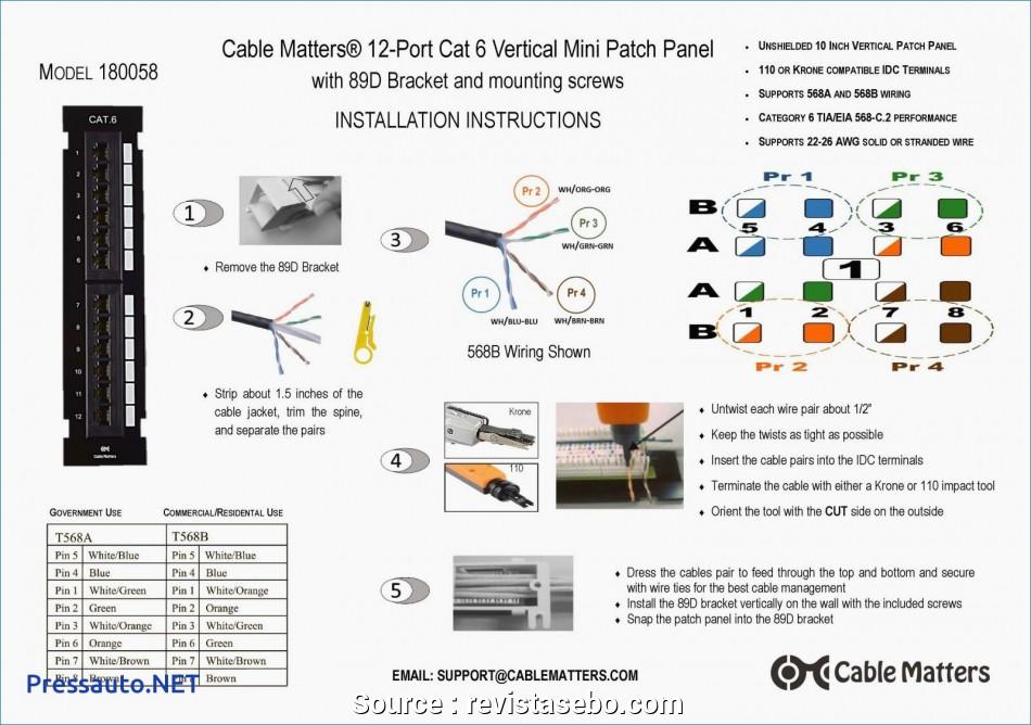 Cat5e Wiring Diagram 568b
