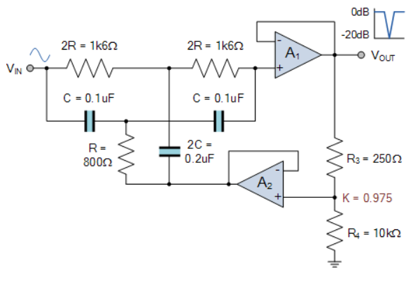 Astonishing Operational Amplifier Differences Between Notch Filter Designs Wiring Cloud Onicaxeromohammedshrineorg