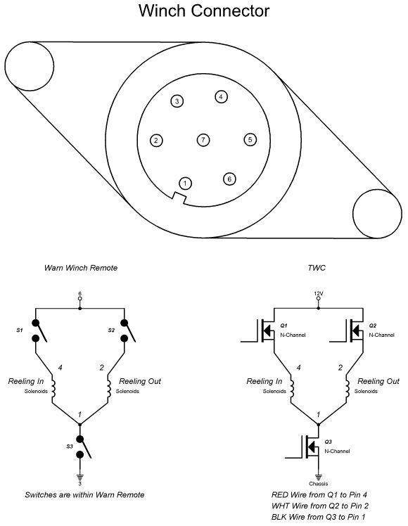 Warn Winch 5 Wire Control Wiring Diagram