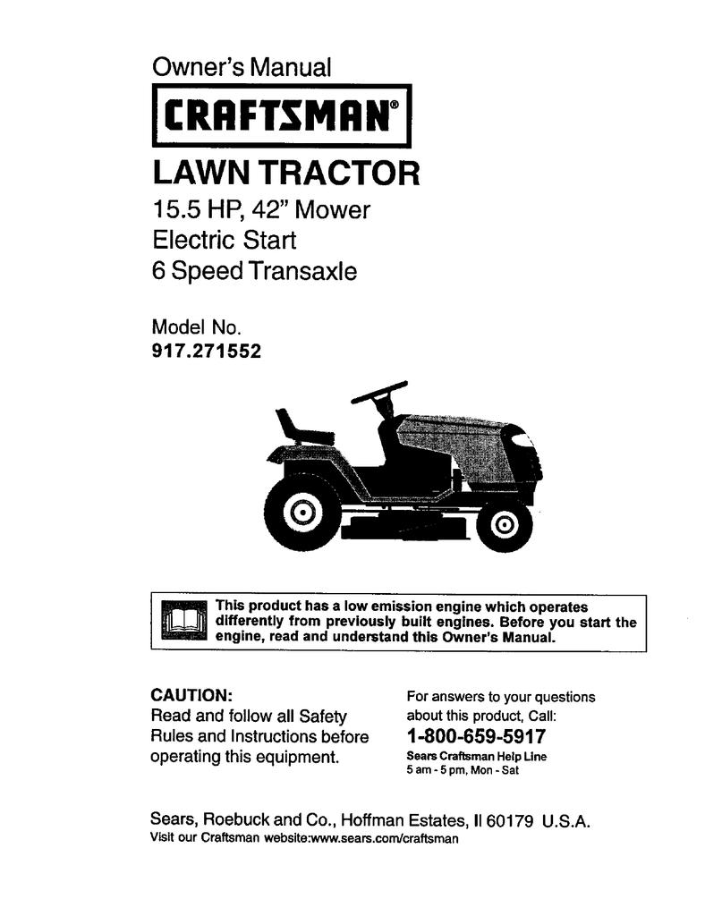 FV_3741] Wiring Diagram Of Craftsman 917 Lawn Tractor Download Diagram