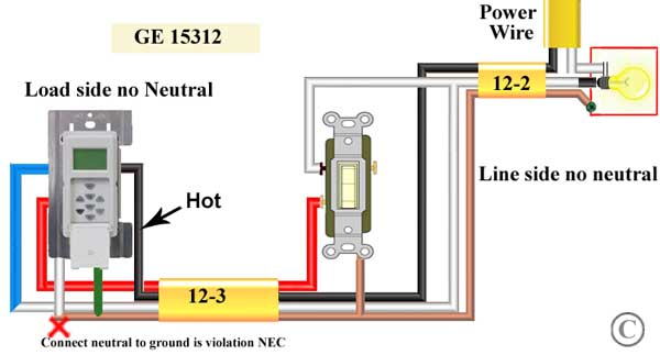 Incredible How To Wire Ge 15312 Sunsmart Timer For Single Pole 3 Way Wiring Cloud Cranvenetmohammedshrineorg