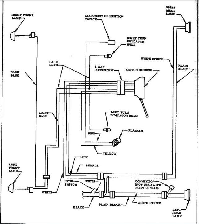 Marvelous Wiring Diagram For 59 Factory Turn Signals The 1947 Present Wiring Cloud Grayisramohammedshrineorg