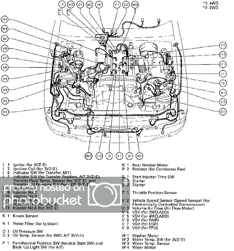 2001 toyota tacoma engine diagram auto wiring diagrams 2001 toyota tacoma engine diagram