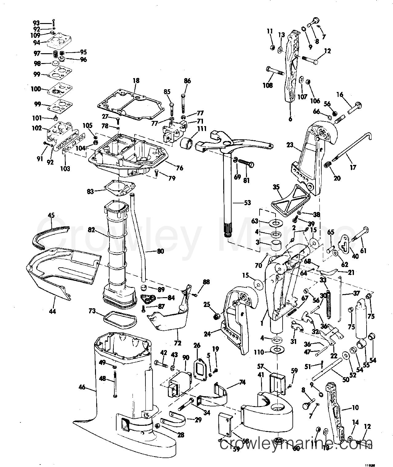 Gz 6736 Diagram Of 1971 125esl71c Johnson Outboard Motor Cover Diagram And Download Diagram