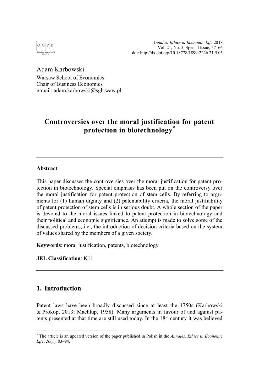 Phenomenal Pdf Biotechnology Patents Markets And Morality Wiring Cloud Itislusmarecoveryedborg