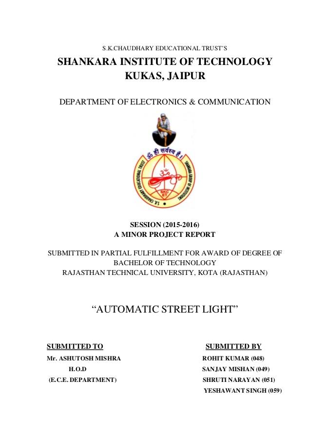 Groovy Minor Project Automated Street Light Wiring Cloud Rineaidewilluminateatxorg