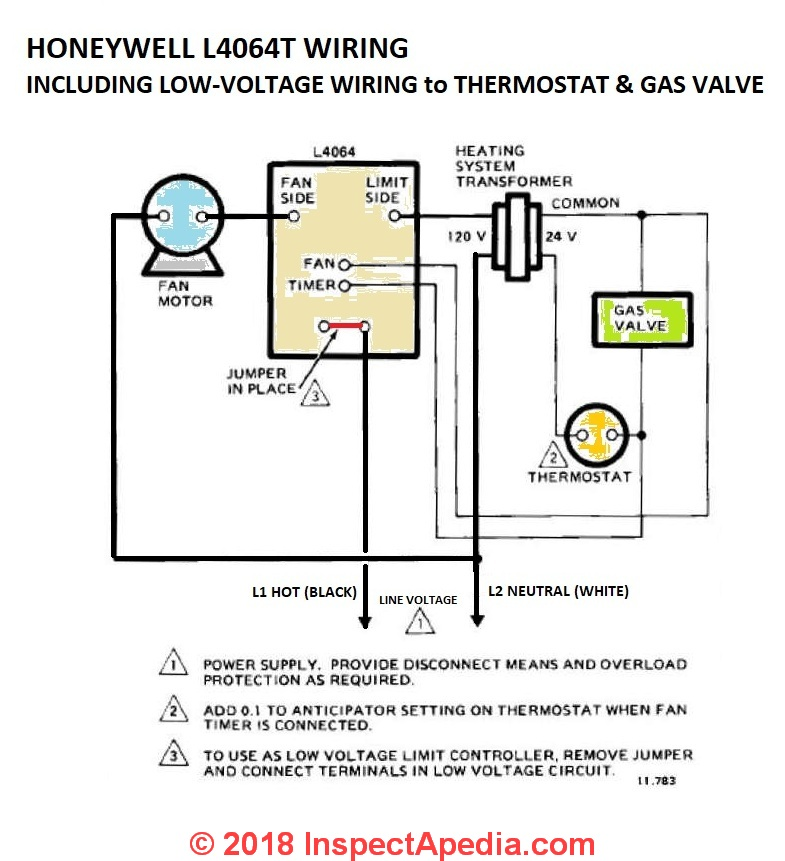Phenomenal How To Install Wire The Fan Limit Controls On Furnaces Honeywell Wiring Cloud Licukshollocom
