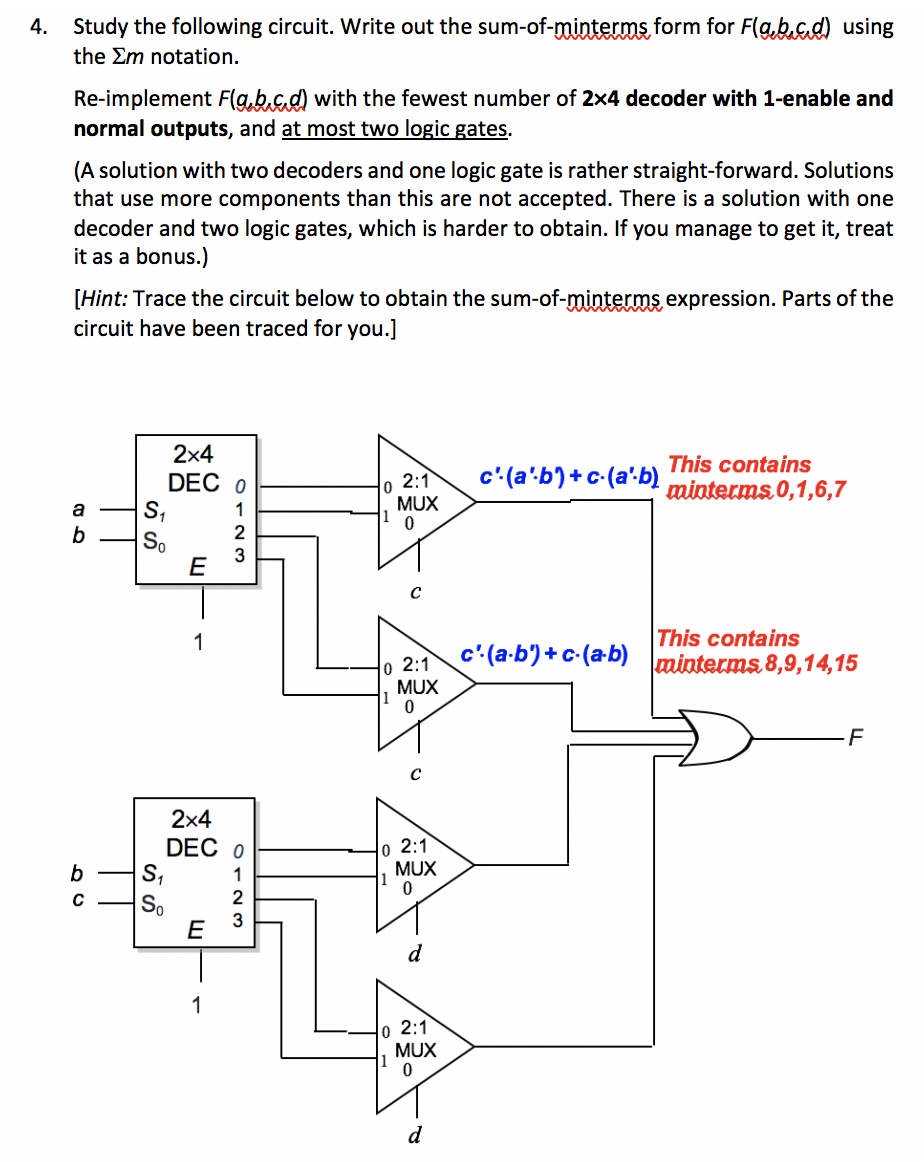 Admirable Reimplement Circuit Using 1 2X4 Decoder And 2 Logic Gates Wiring Cloud Ymoonsalvmohammedshrineorg