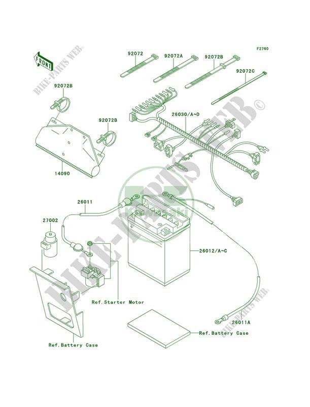 Astounding Chassis Electrical Equipment Klf220 A12 Bayou 220 1999 220 Quad Wiring Cloud Icalpermsplehendilmohammedshrineorg