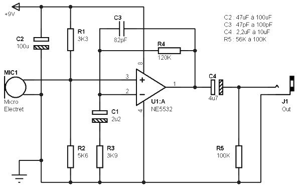 Excellent Electret Microphone Pre Amp Based Ne5532 Amplifier Circuit Design Wiring Cloud Overrenstrafr09Org
