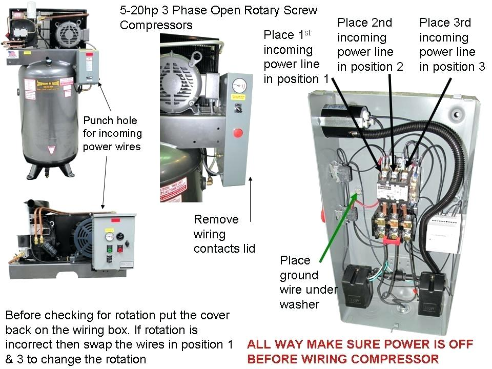 3 Phase Wiring Diagram Air Compressor
