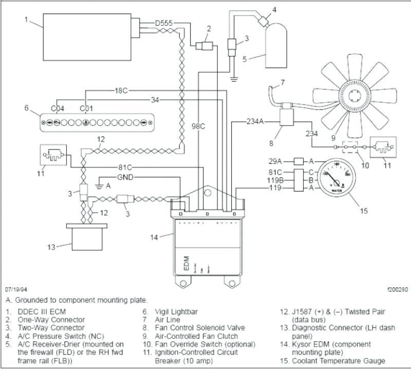 international truck fan clutch wiring diagram  light