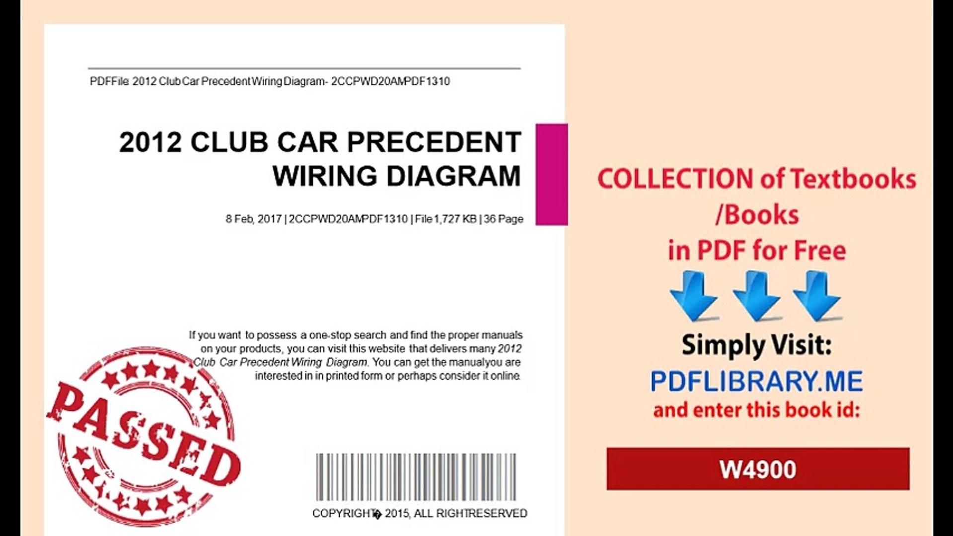 Awe Inspiring 2012 Club Car Precedent Wiring Diagram Video Dailymotion Wiring Cloud Licukshollocom