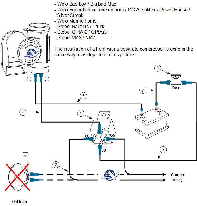Air Horn Wiring Diagram With Relay Bege Wiring Diagram