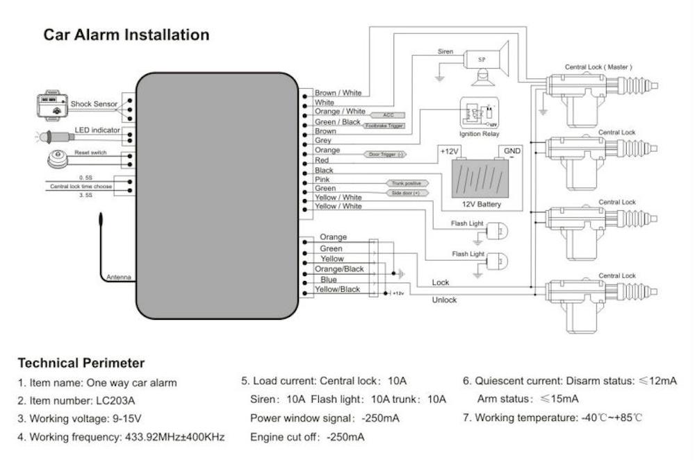 pursuit car alarm wiring diagram  light dimmer switch