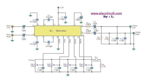 Outstanding Stereo Tone Control Circuit Using Ic Tda1524A Eleccircuit Mach Wiring Cloud Grayisramohammedshrineorg