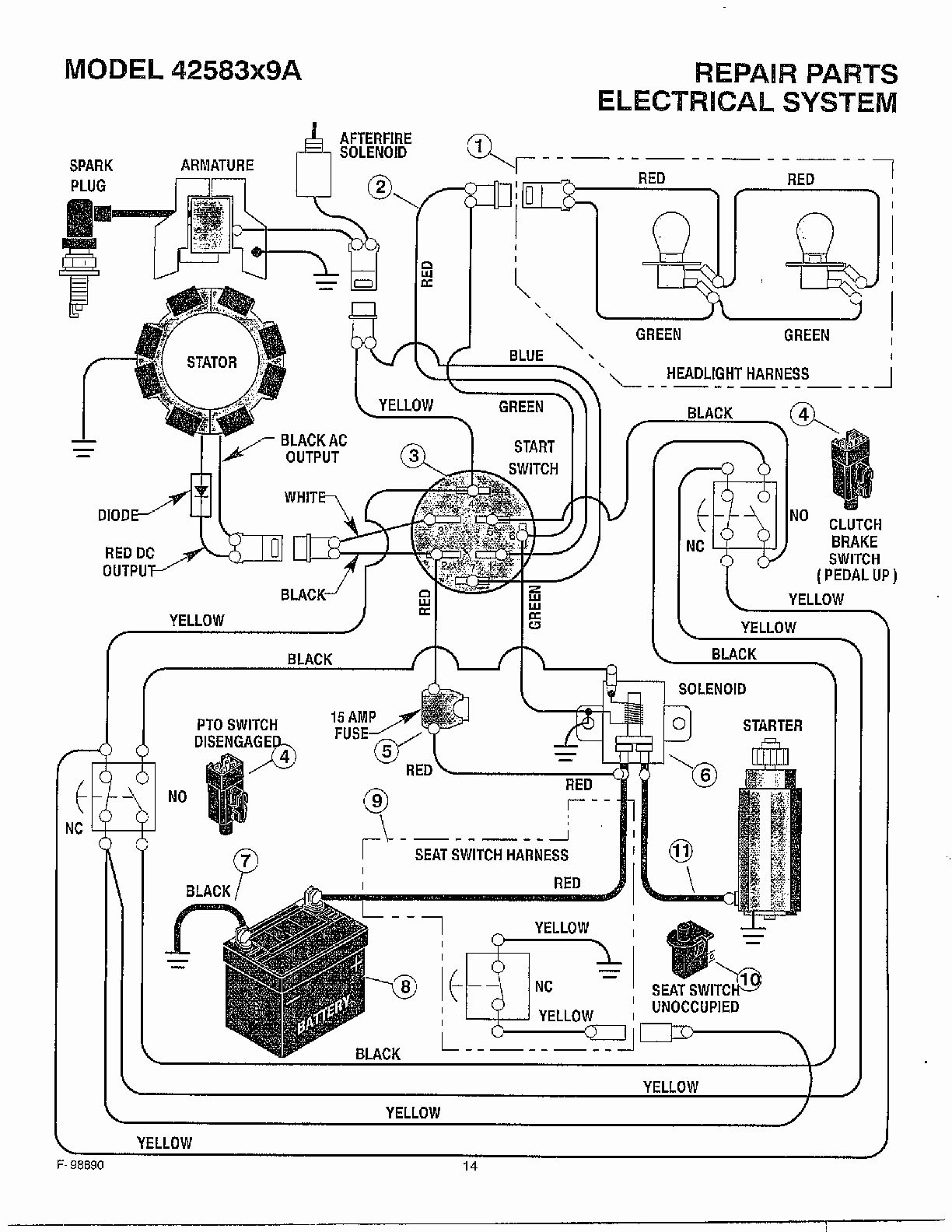 woods mower wiring diagram