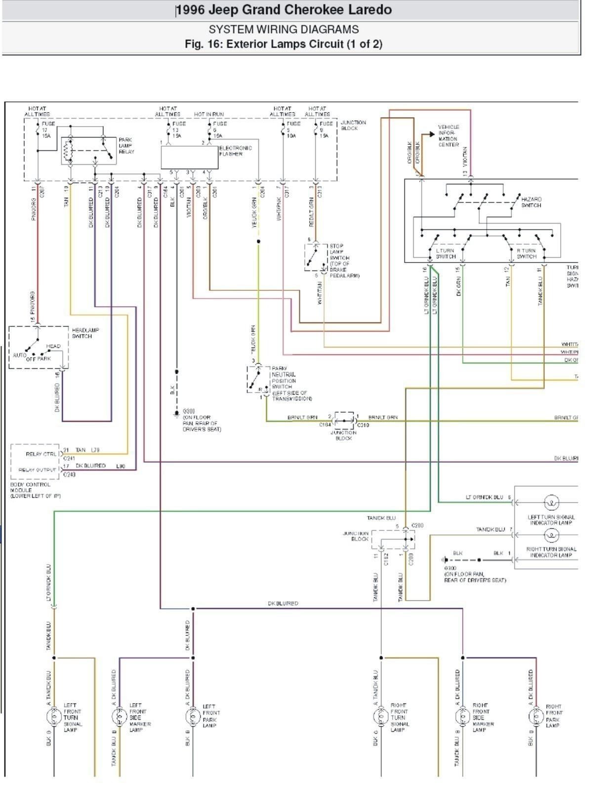 98 Jeep Grand Cherokee Radio Wiring Diagram
