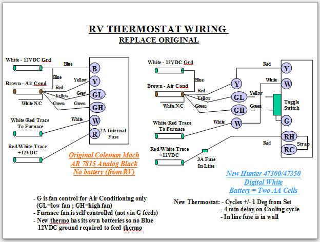 Vc 3442 Basic Thermostat Wiring Rv Wiring Diagram