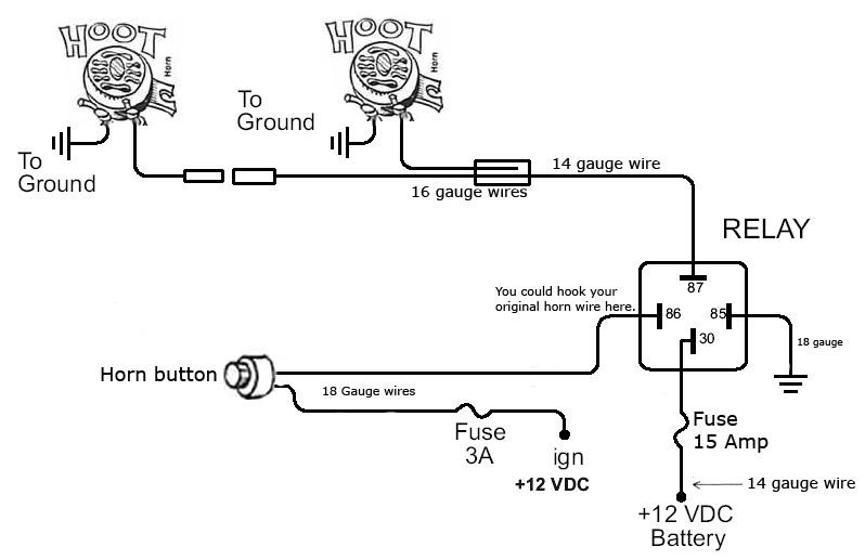 Stupendous Horn Wire Diagram Online Wiring Diagram Wiring Cloud Hemtshollocom