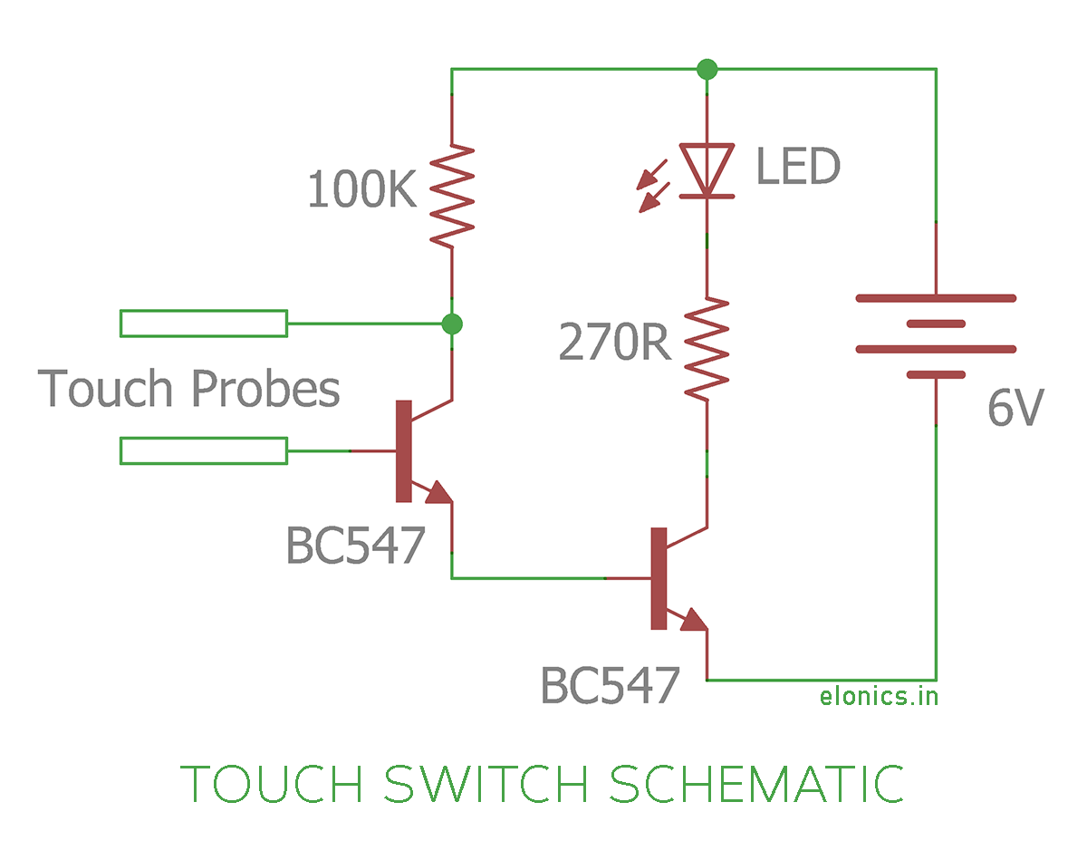 Tremendous Touch Diagram Touch Switch Circuit Schematic Basic Electronics Wiring Cloud Rdonaheevemohammedshrineorg