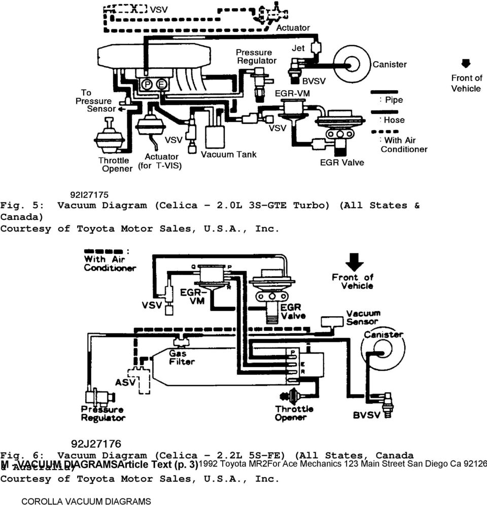 [AV_4759] Toyota 20R Vacuum Diagram Together With 1991 ...