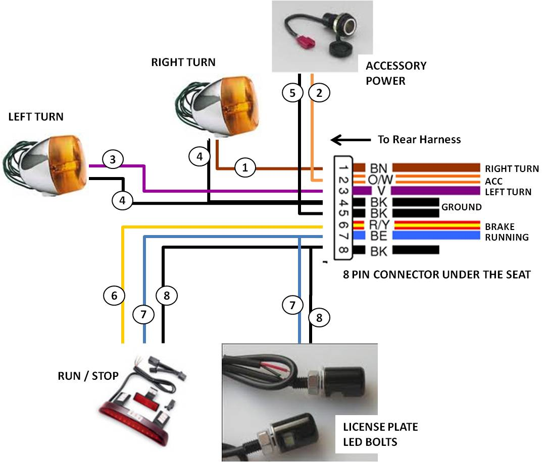 3 wire tail light wiring diagram harley softail turn signal wiring diagram rain repeat24  harley softail turn signal wiring