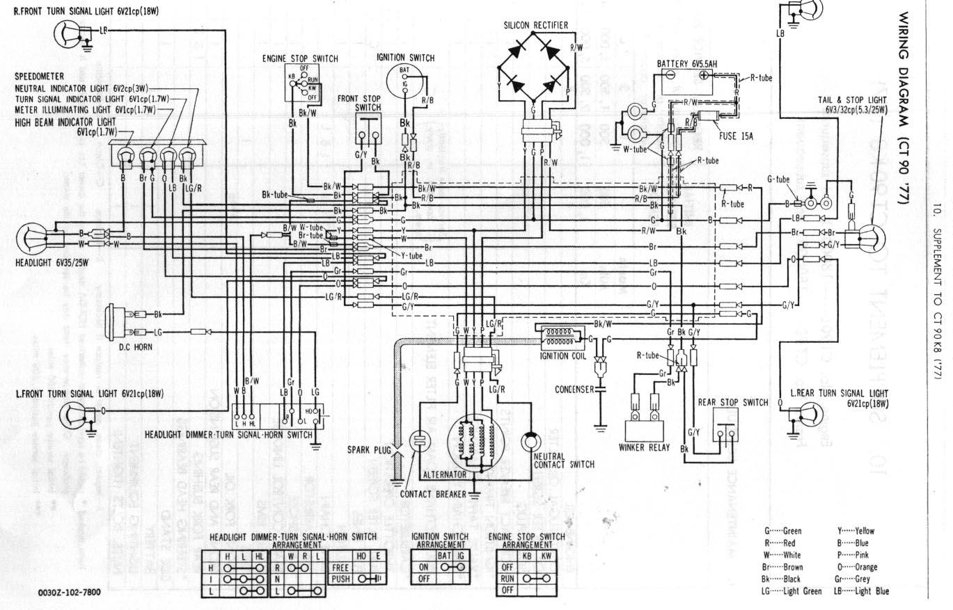 1974 Honda Trail 90 Wiring Diagram