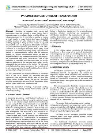 Wondrous Irjet Parameter Monitoring Of Transformer By Irjet Journal Issuu Wiring Cloud Rometaidewilluminateatxorg