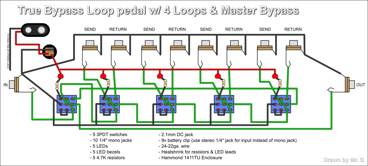 Vv 9596 Looper Guitar Pedal Wiring Diagram
