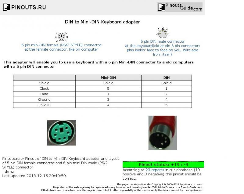 5 Pin Din To Ps2 Connector Wiring Diagram