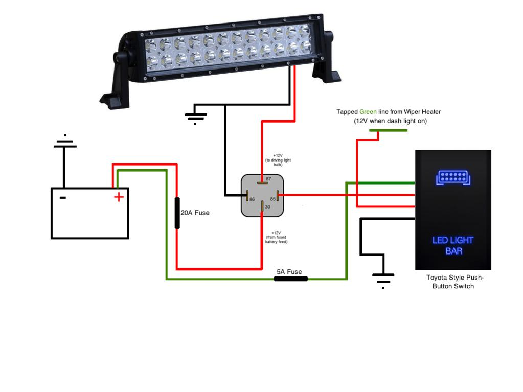 wiring diagram led light bar  1966 ford truck wiring
