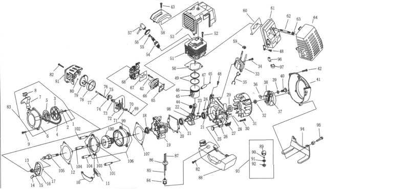 Amazing 49Cc 2 Stroke Gas Engine Parts Diagram Wiring Diagram Wiring Cloud Licukshollocom