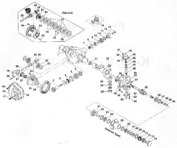 1994 ford ranger 4x4 front hub diagram